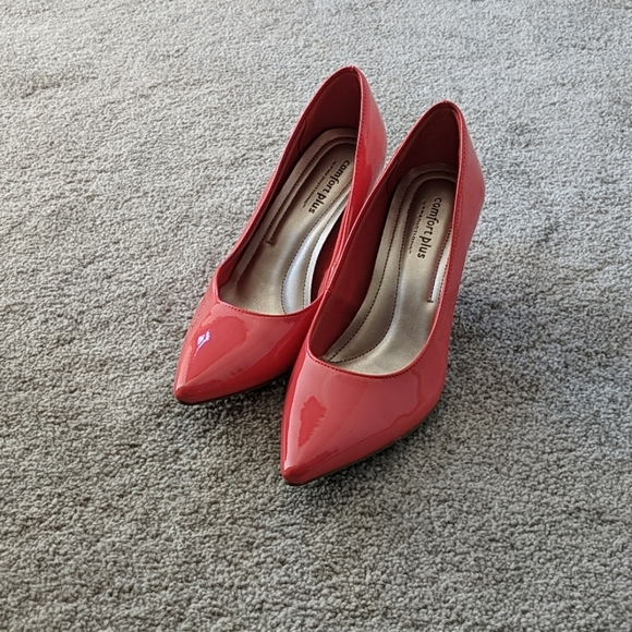 Coral Patent Leather Heels